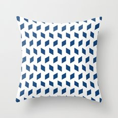rhombus bomb in monaco blue Throw Pillow