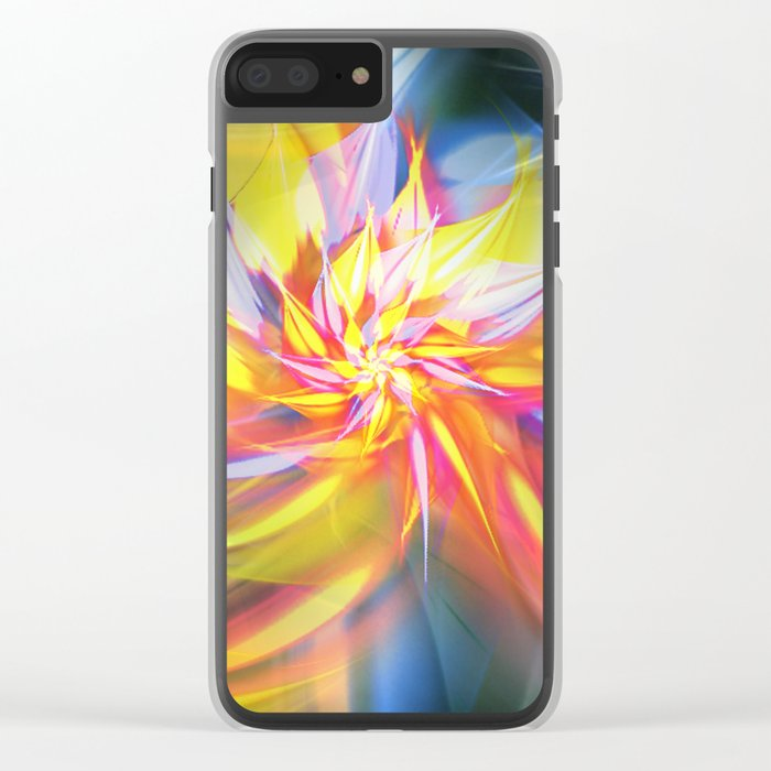 Fractal Flower Clear iPhone Case