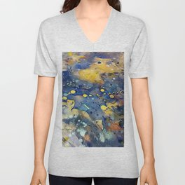 When Planets Align watercolor abstract by CheyAnne Sexton Unisex V-Neck