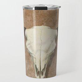 Bison Skull with Rose Rocks Travel Mug