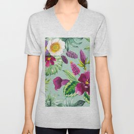 Wild Botanica II Unisex V-Neck