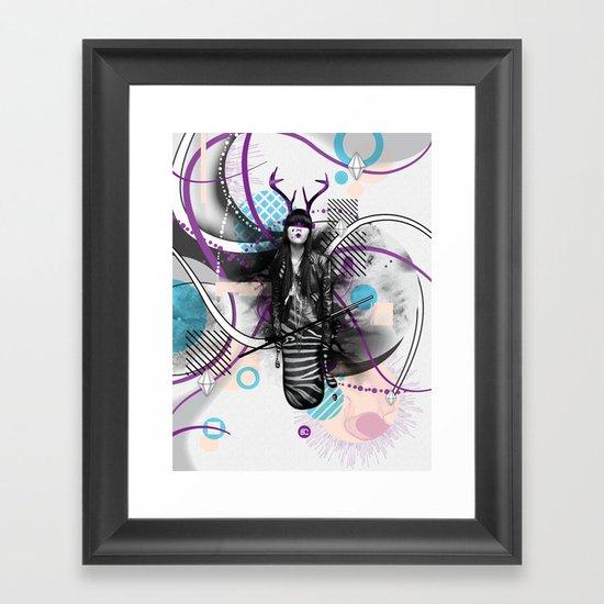Moody Mind Poster Framed Art Print