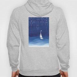 Garland of stars, sailboat Hoody
