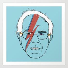 Blue Bernie Sanders 2016 Art Print