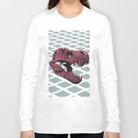 t rex Long Sleeve T-shirts featuring T-Rex by Blake Makes Tees