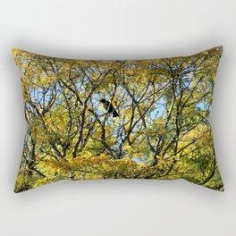 Fall Crow Rectangular Pillow