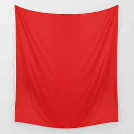 Red Saturated Pixel Dust Wall Tapestry