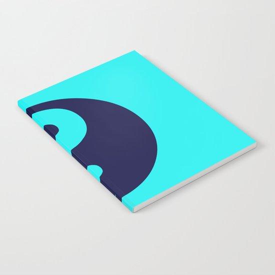 Harmony Yin Yang Navy Turquoise Notebook