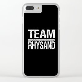 Team Rhysand Clear iPhone Case