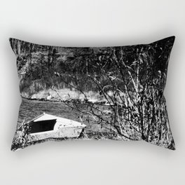 The old forgotten boat in northern Canada Rectangular Pillow
