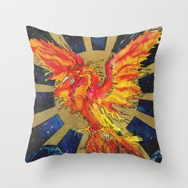 Rise From The Ashes Throw Pillow