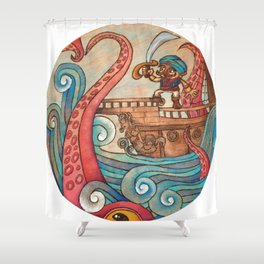 Simbad: Monsters of deep sea. Shower Curtain