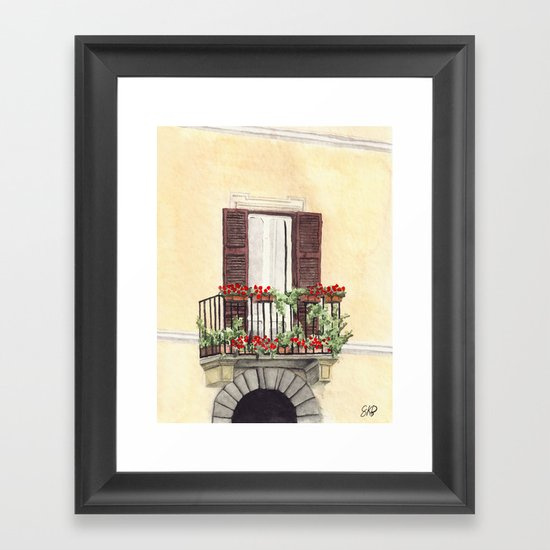 Italian Balcony Framed Art Print