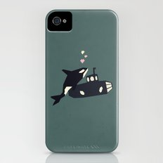 K is for Killer whale Slim Case iPhone (4, 4s)