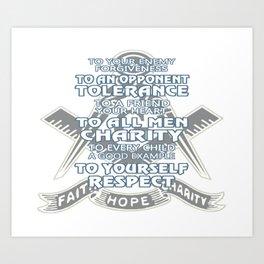 Faith - Hope - Charity Art Print