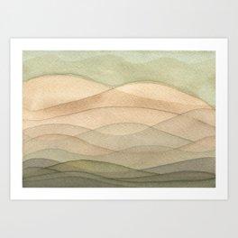 #42. DANIEL - Hills Art Print