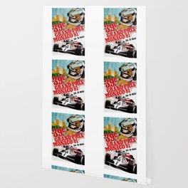 Gran Prix de Monaco, 1981, original vintage poster Wallpaper