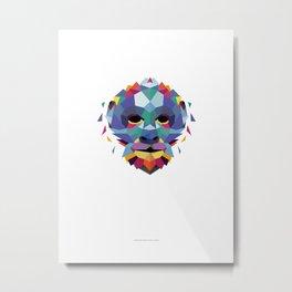 Monkey Color Geometric Metal Print