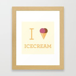 I heart Icecream Framed Art Print