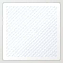 Pale Charlotte Blue and White Mini Candy Cane Stripes Art Print