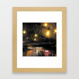 Rainy Night Commute Framed Art Print