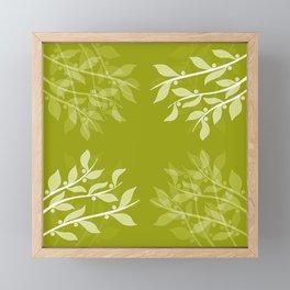 Mistletoe Pattern Framed Mini Art Print