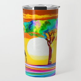 African Elephant with Baby Travel Mug