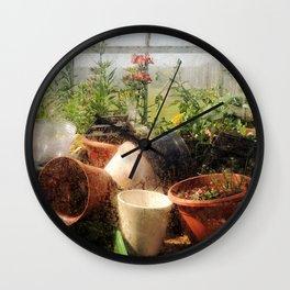 Flowerpots Wall Clock