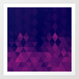 Geo Pattern Plum Art Print