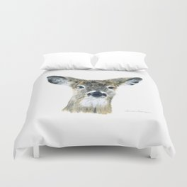 Doe Eyes by Teresa Thompson Duvet Cover