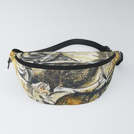 Panel of Rhinos // Chauvet Cave Fanny Pack