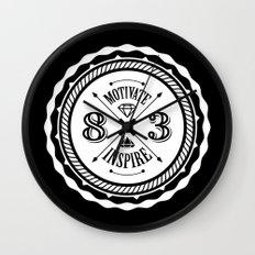 Motivate & Inspire (White) Wall Clock