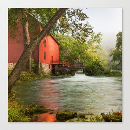 Alley Spring Mill - Square Format Canvas Print