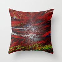 because cats Throw Pillows featuring Because by Violet Vibrance