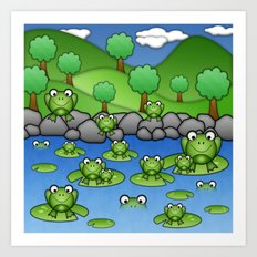 Froggies!  Art Print