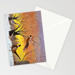 Pheasants in the sunrise Stationery Cards