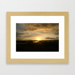 Evening gold Framed Art Print