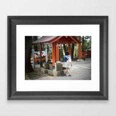 Shrine Syojo Framed Art Print
