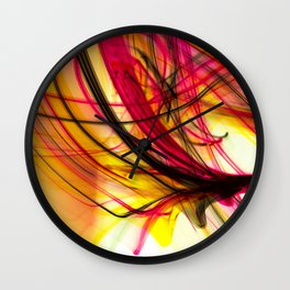 Heatwave Dynamic Abstract Painting Wall Clock