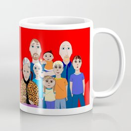 A Family of Boys with Father, Grandpa and Meemaw Coffee Mug