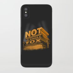 Not a single fox was given that day iPhone X Slim Case