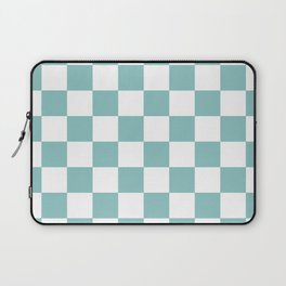 Chalky Blue Checkers Pattern Laptop Sleeve