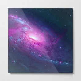 Space Galaxy - Purple Metal Print