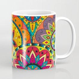 Funky Retro Pattern Mandalas Coffee Mug