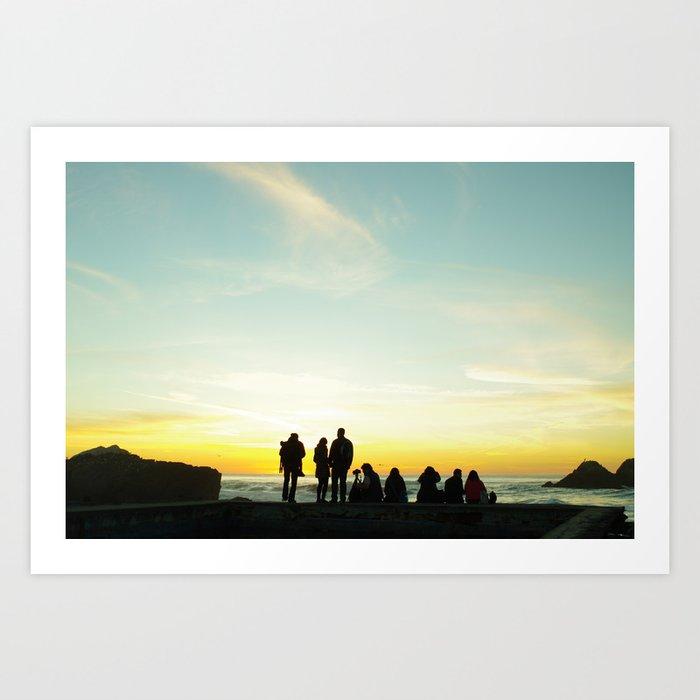 Lands' End Silhouette Art Print