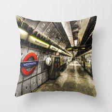 Going Underground Art Throw Pillow