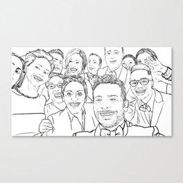 Oscar Selfie Canvas Print