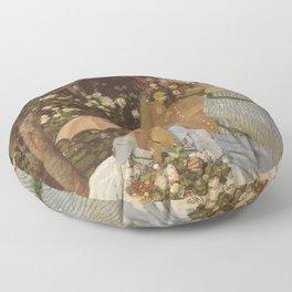 Monet- Women in the Garden, nature,Claude Monet,impressionist,post-impressionism,painting Floor Pillow