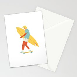 Skater from 70s Stationery Cards