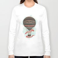 baloon Long Sleeve T-shirts featuring have love, will travel by Laura Graves
